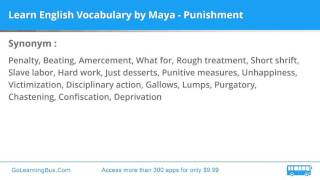 Learn English Vocabulary by Maya - Punishment