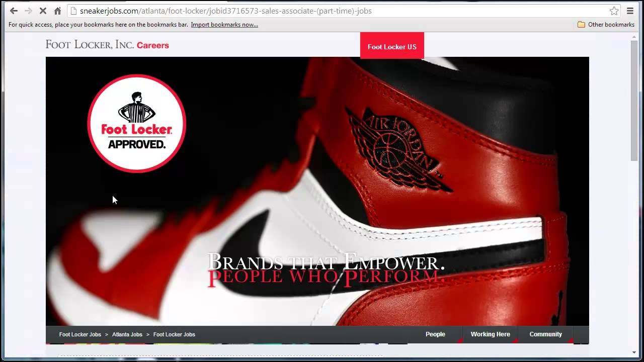 Foot Locker Application Online Video - YouTube 3276ac6aad92