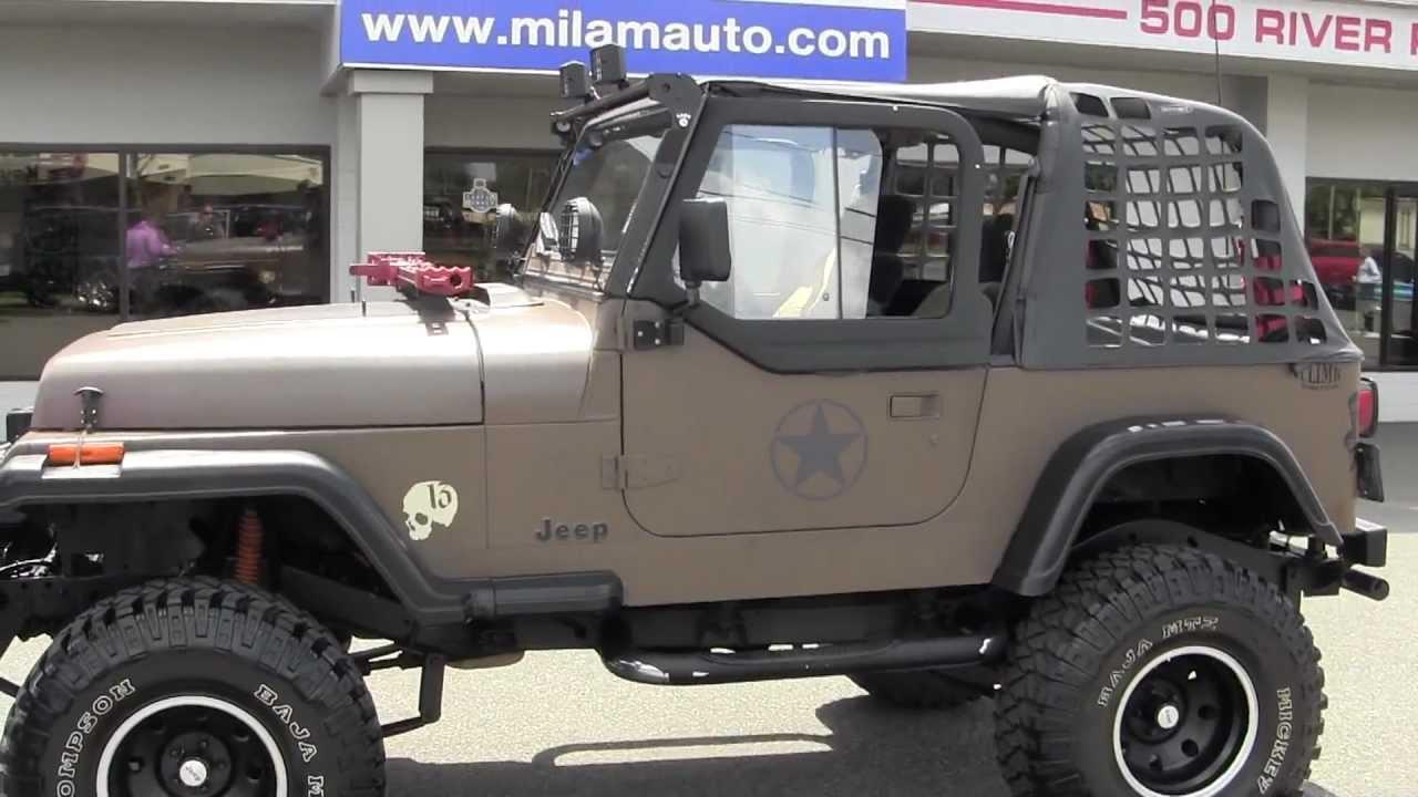 Jeep Wrangler Dealership >> 1992 Jeep Wrangler Custom from Milamauto.com - YouTube