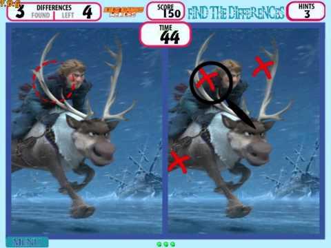 Frozen Find The Differences (Холодное сердце: найди отличия) - прохождение игры