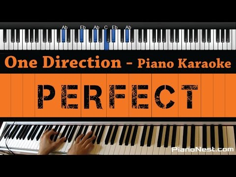 One Direction - Perfect - Piano Karaoke / Sing Along / Cover with Lyrics