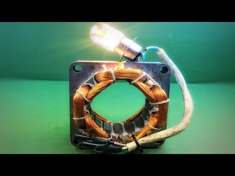How to make electric free energy generator using dynamo - Science experiment projects diy 2018