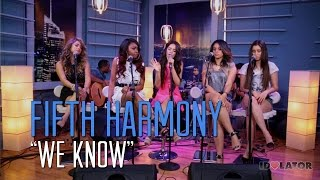 "New Fifth Harmony Live Acoustic Performance of ""We Know"": Idolator Sessions"