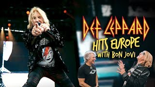 Meeting up with Bon Jovi - Def Leppard Hits Europe