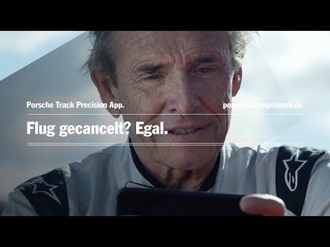 Jacky Ickx testet die Porsche Track Precision App