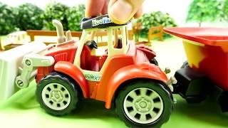 Мультик про трактор - Трактора работают на ферме - Мультики для малышей