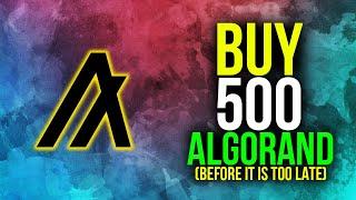 Why You Should Own 500 Algorand Tokens - ALGO Algorand Cryptocurrency