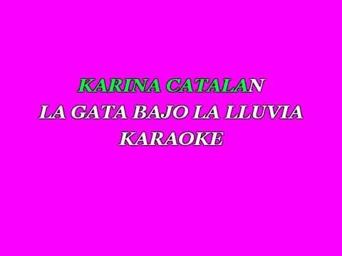 Karina Catalan La Gata Bajo la Lluvia Karaoke