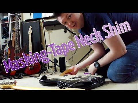 Shimming a Bolt-On Neck - Guitar/Bass Bodging