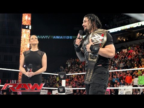 Stephanie McMahon wipes the smile off Roman Reigns' face: Raw, December 21, 2015 thumbnail
