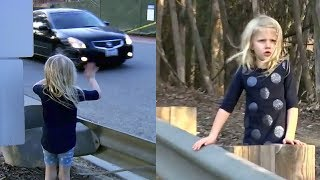 Der Wagen landet nach einem Unfall im Graben. Was die 5-jährige Tochter dann tut, rettet Leben!