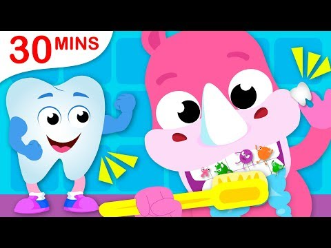 Brush Your Teeth | Paw Patrol Safety Tips | Snow White Princess Nursery Rhymes by Little Angel