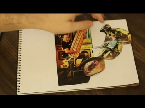How to Make Collage Wall Art From a Magazine : Art & Drawing Tips