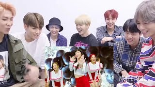 BTS reacting to REDVELVET RED FLAVOR