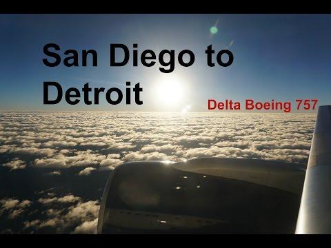 Delta Air Lines Boeing 757-200 Flight Experience: San Diego to Detroit