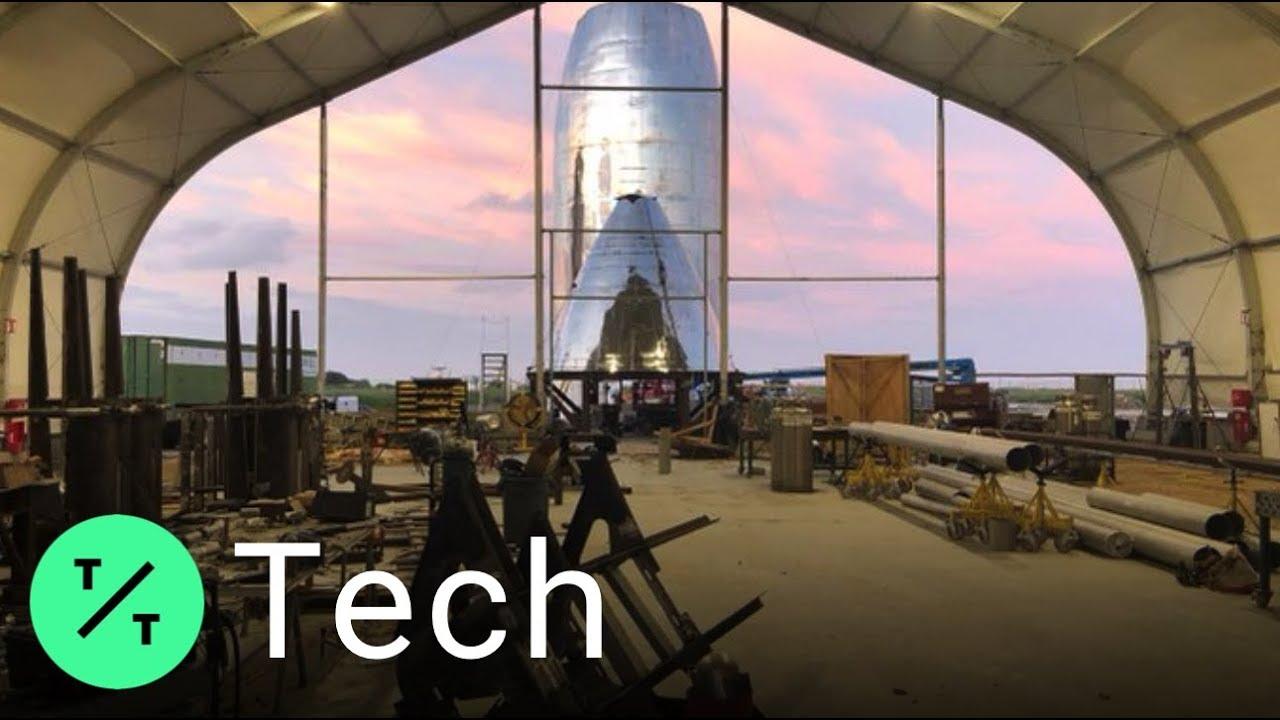 Bloomberg Tic Toc Elon Musk Reveals Space's Next Starship Prototype Vehicle