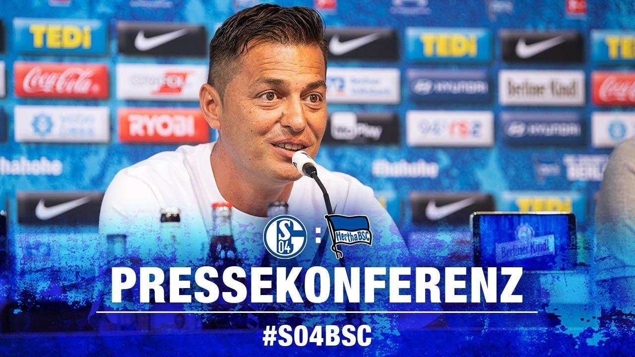 PK VOR SCHALKE 04 - BUNDESLIGA - 3. SPIELTAG - Hertha BSC