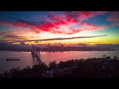 San Francisco Treasure Island Sunset - DJI Mavic Pro