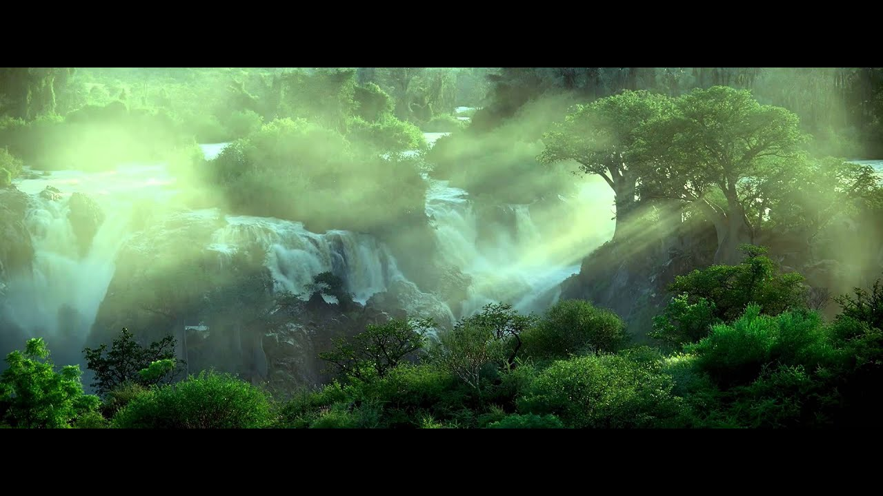 African Waterfalls w/ Jungle Sounds