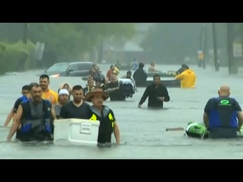 """""""This Is the New Normal"""": How Climate Change Is Fueling Massive Storms like Harvey"""