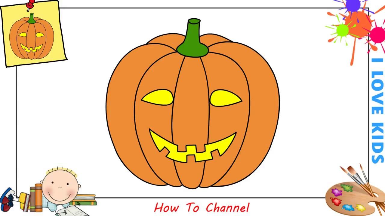 Pumpkin Easy Drawings For Kids Halloween
