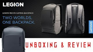 LENOVO LEGION - GAMING LAPTOP BACKPACK UNBOXING