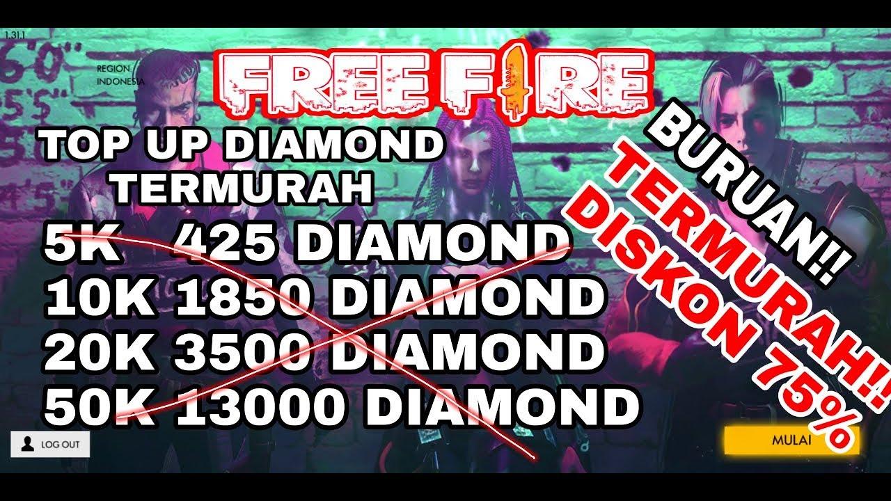 Promo Tempat Beli Diamond Free Fire Murah Lagi Diskon Youtube