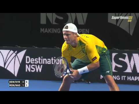 Nadal & Monfils vs Hewitt & Kirgios FULL MATCH HD FAST4 Tennis Sydney 2016