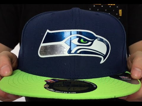 Seahawks  2015 NFL DRAFT  Navy-Lime Fitted Hat by New Era - YouTube d07b9b5c38f
