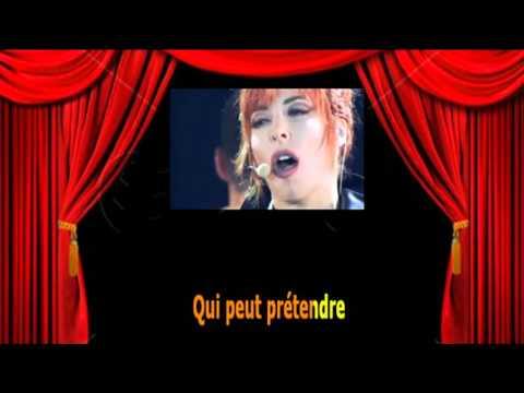 Karaoké Mylène Farmer  -  Désenchantée
