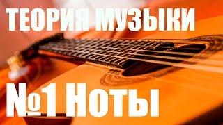 """УРОКИ ИГРЫ НА ГИТАРЕ - НОТЫ (ТЕОРИЯ МУЗЫКИ """"САМОУЧКА"""")"""