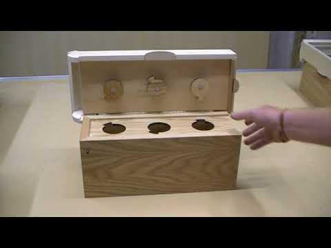 Bottle Box – premium wood brain teaser puzzle box with hidden compartment.