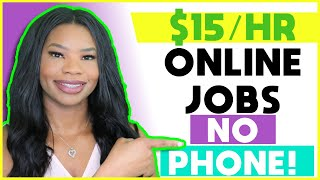💻 $15 Hourly NO-PHONE Work-From-Home Jobs! *Easy Application* | Apply NOW!!