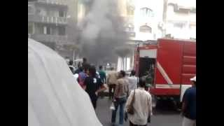 انفجار مطعم أبو ربيع فرع ميامي بالاسكندرية