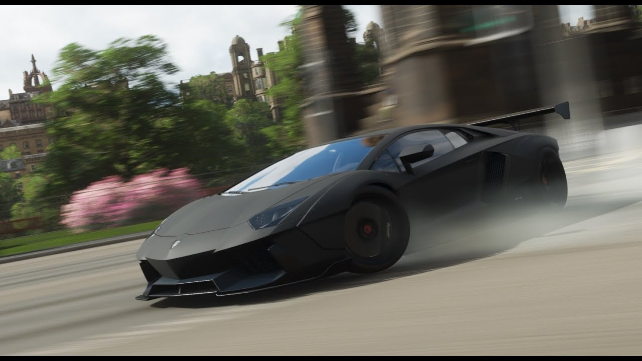 Forza Horizon 4 1900hp Rare Matte Black Lamborghini Aventador Fe