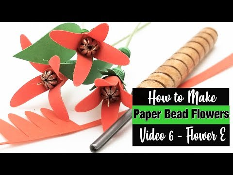 How to Make Paper Bead Flowers - Flower E