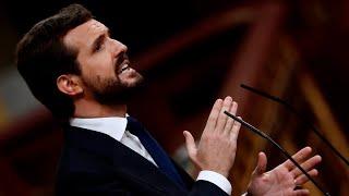 Casado anuncia que el PP votará 'no' en la moción de censura de Vox contra Sánchez