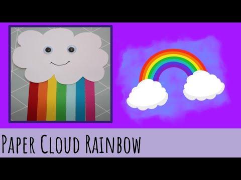 Paper Cloud Rainbow - Kids Craft - Vera's Creations