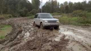 Range Rover off-road, mud in Russia