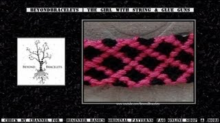 ► Friendship Bracelet Tutorial - Intermediate - Garden Lattice