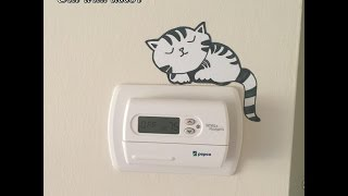 cat sticker decol on light switch plug socket wall | art decoration - TimesNow BreakingNews HD