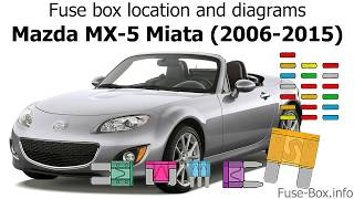 Fuse box location and diagrams: Mazda MX-5 Miata (2006-2015) - YouTubeYouTube