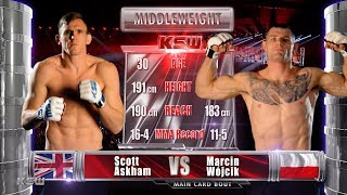 KSW Free Fight: Scott Askham vs Marcin Wojcik [ENG commentary]