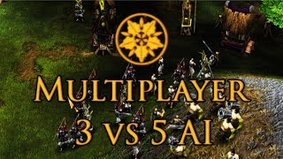 Battle Realms Multiplayer- 3 Dragons vs 5 AI. Ophidian River.