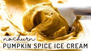 No-Churn Pumpkin Spice Ice Cream vegan, paleo, date-sweetened
