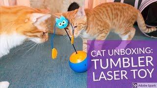 Кішка іграшка розпакування: електронна Неваляшка 3 в 1 з лазером !