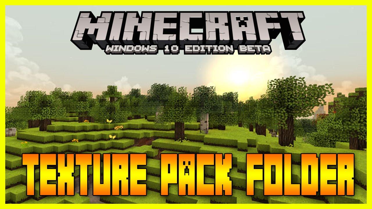 Minecraft Windows Edition Texture Pack Folder YouTube - Minecraft texture pack namen andern