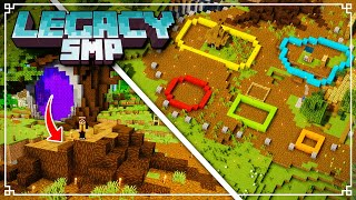 Legacy SMP - Planning my FANTASY Base & Tree Stump CHURCH! (Minecraft 1.16 Survival Multiplayer)