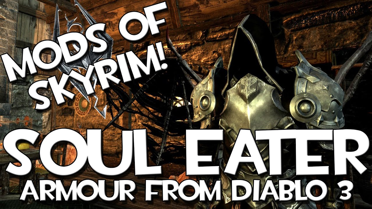 mods of skyrim soul eater armour youtube