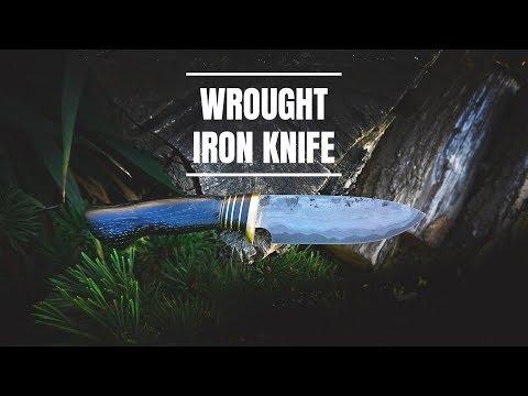 Knife Making - HUNTING Knife / Wrought Iron Laminate